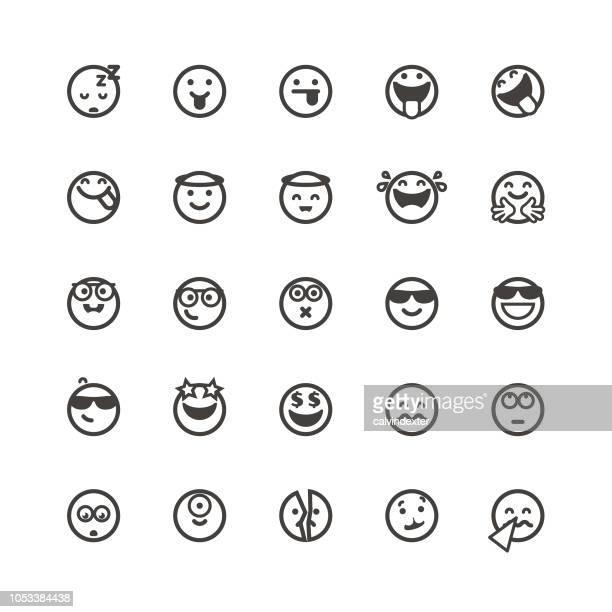 ilustraciones, imágenes clip art, dibujos animados e iconos de stock de emoticonos lindos set 4 - gafas de sol