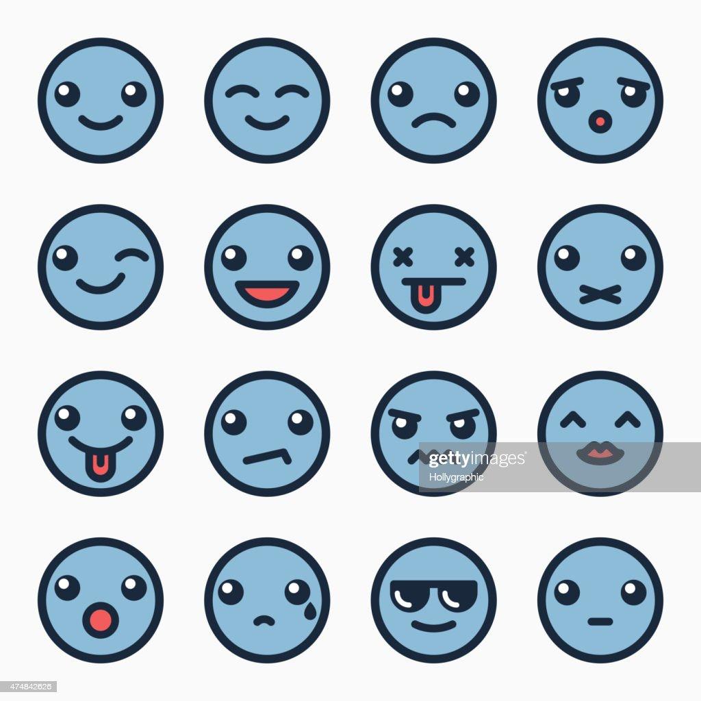 Emoticons faces set