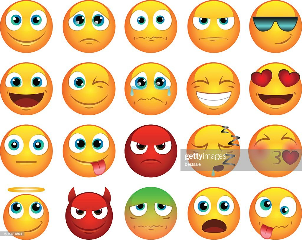 Emoticons or smiley icons set