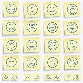 Emoticons postit notes