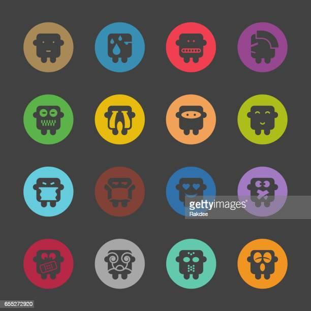 Emoticons Set 4 - Color Circle Series