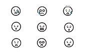 set vector illustration emoticons emojis representing