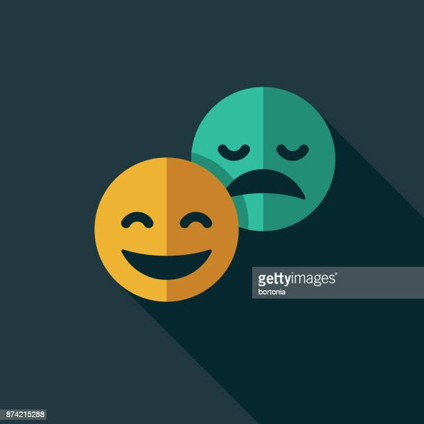 emoticons social media flat design icon with side shadow - laughing stock illustrations, clip art, cartoons, & icons