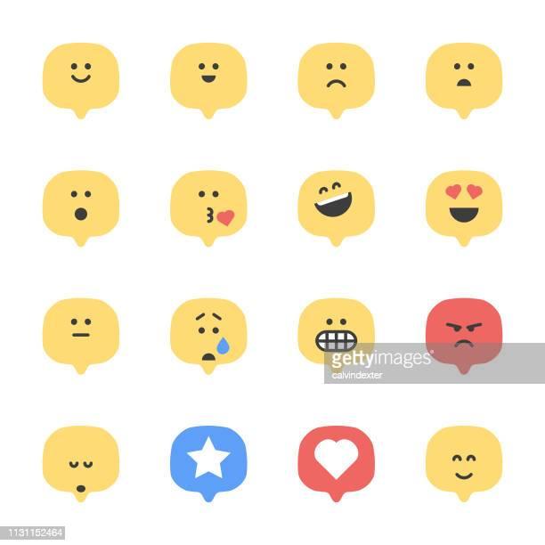 emoticons speech bubbles - furious stock illustrations