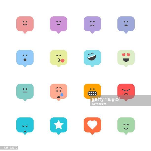 illustrations, cliparts, dessins animés et icônes de émoticônes discours bulles - chat humour