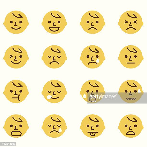 emoticons - anthropomorphic stock illustrations, clip art, cartoons, & icons
