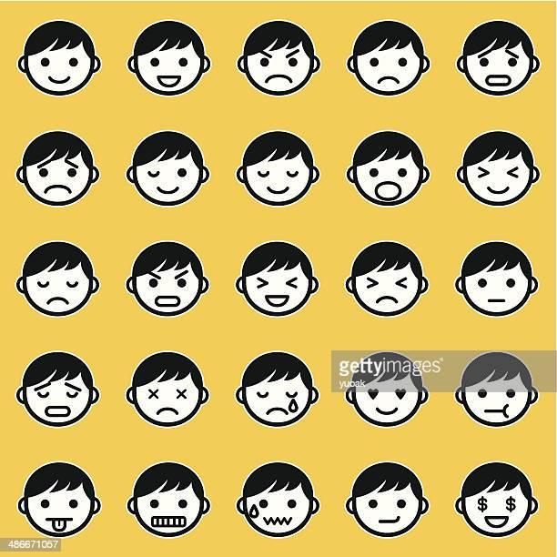 emoticons - 擬人化点のイラスト素材/クリップアート素材/マンガ素材/アイコン素材