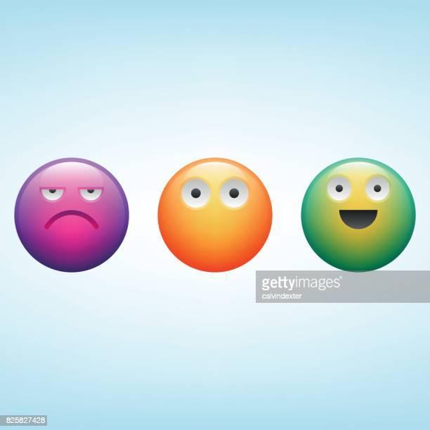 emoticons - promoter stock illustrations