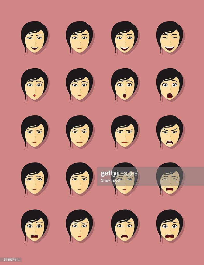 emotional faces set
