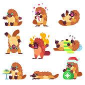 Emotional Platypus Character Set