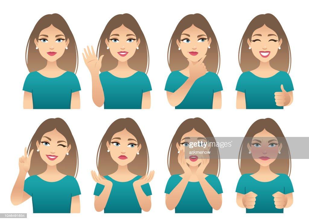 Emociones : Ilustración de stock