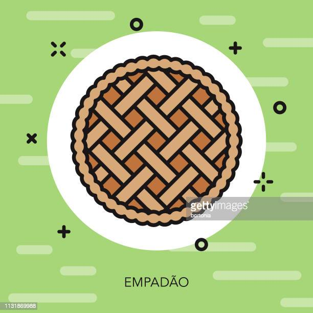 empadao brazil icon - pastry lattice stock illustrations, clip art, cartoons, & icons