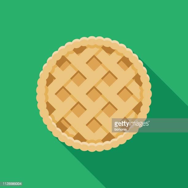 empadão (brazilian chicken pie) icon - pastry lattice stock illustrations, clip art, cartoons, & icons