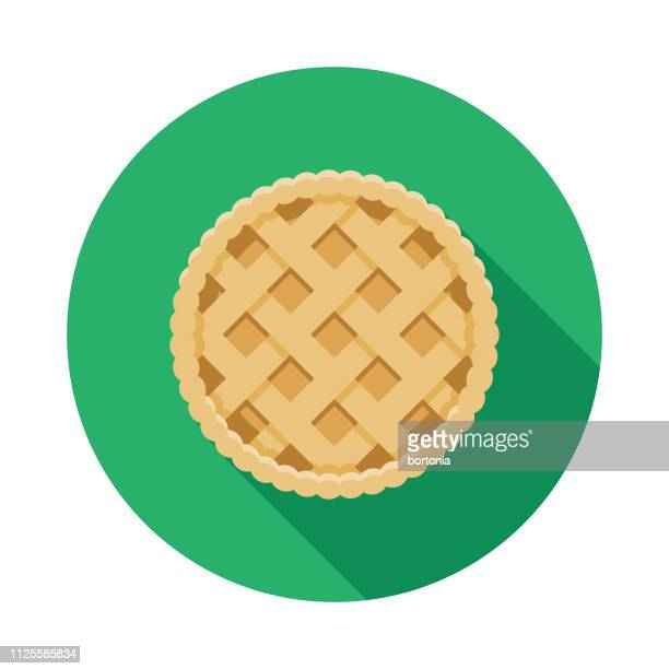 empadão (brazilian chicken pie) icon - pastry lattice stock illustrations, clip art, cartoons, & icons