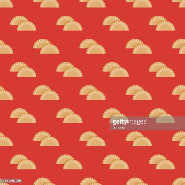 empanada mexican food pattern - empanada stock illustrations