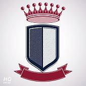 Empire design element. Heraldic royal coronet illustration
