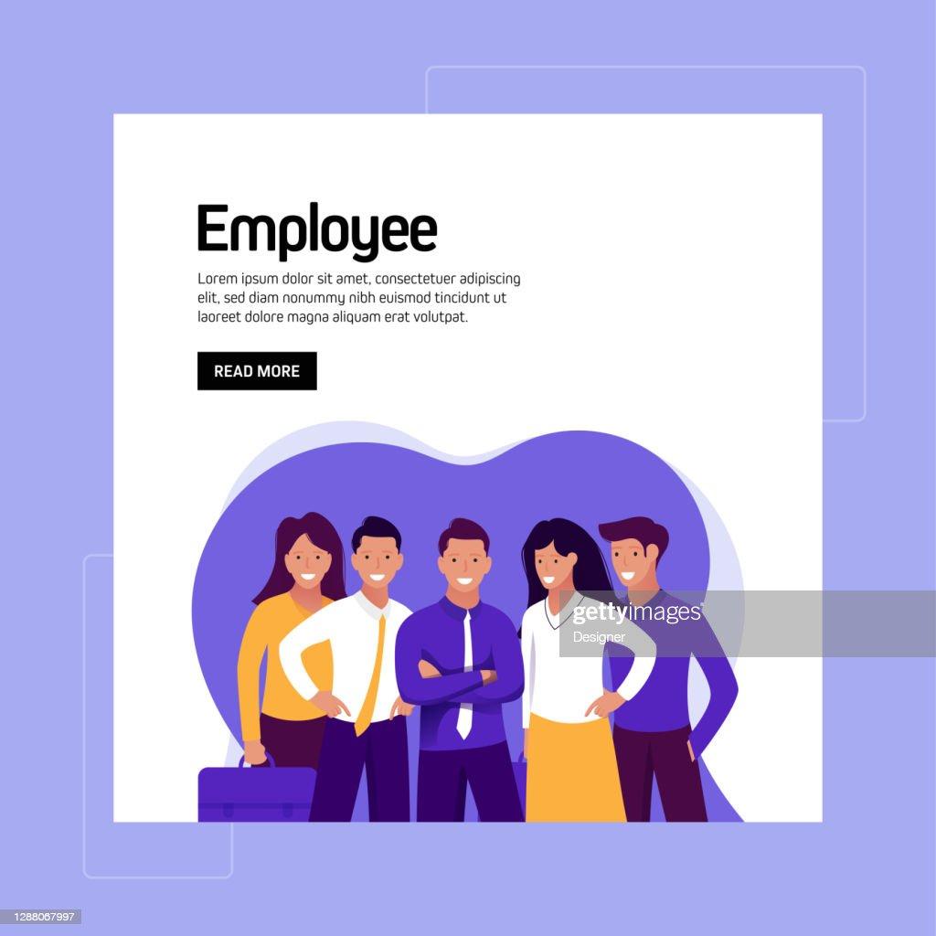 Employee Concept Vector Illustration For Website Banner ...