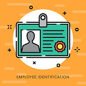 Employee ID Open Outline Business Icon