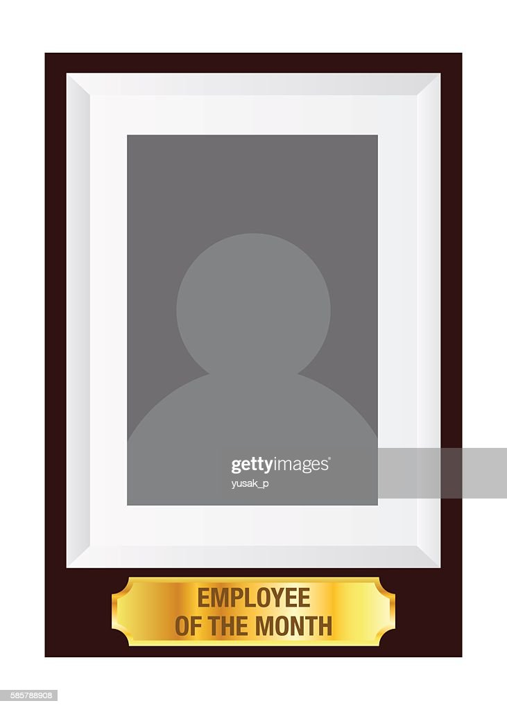 employee of the month photo frame template ベクトルアート getty images