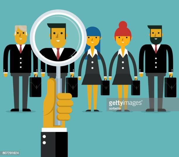 employee search - job interview stock illustrations, clip art, cartoons, & icons