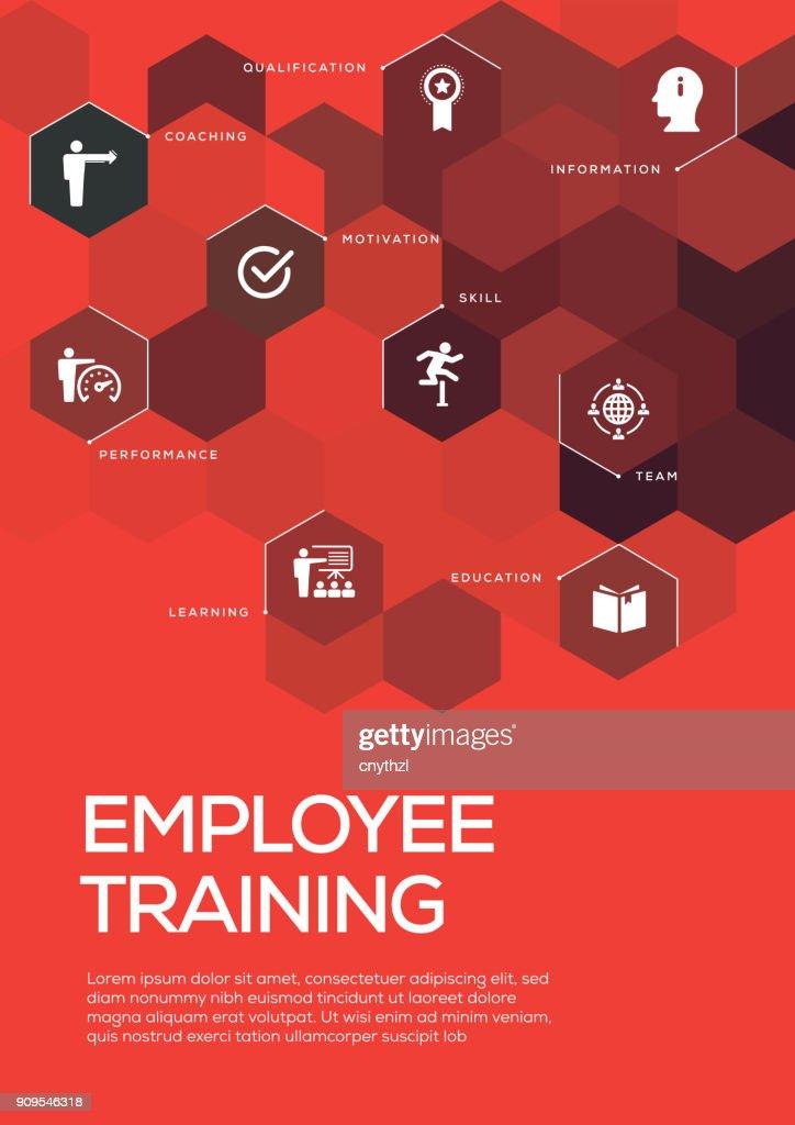 Employee Training Brochure Template Layout Cover Design Vector Art - Training brochure template