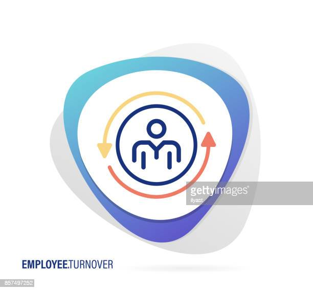 employee turnover icon - switch stock illustrations, clip art, cartoons, & icons