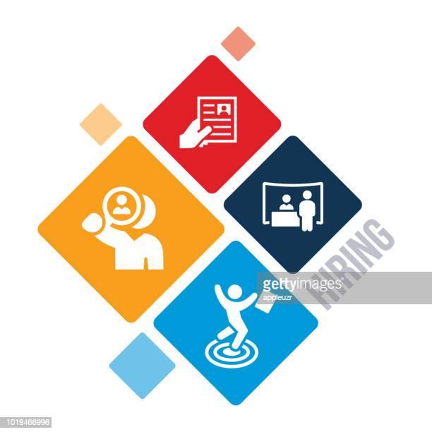 employment illustration - job fair stock illustrations