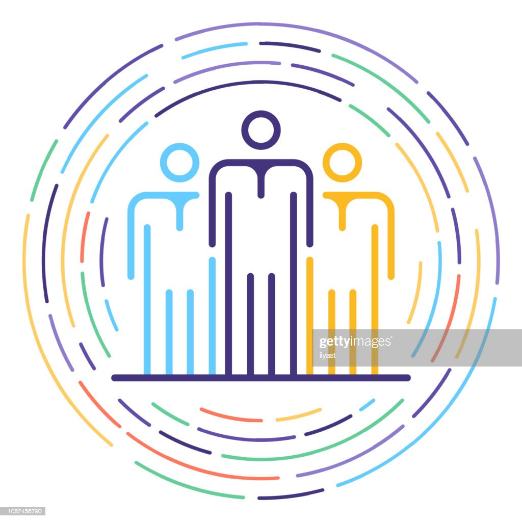 Employment Law Line Icon Illustration