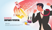empower potential to success helping business team ver2