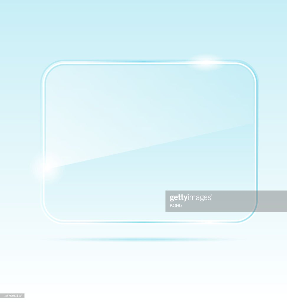 Empty abstract transparent glass banner