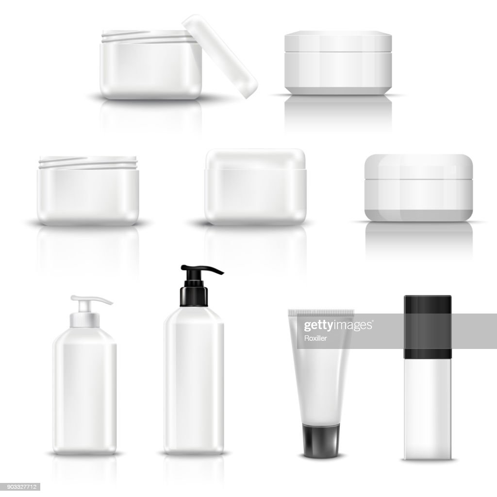 empty and clean white plastic containers