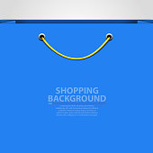 Empty bag background. Shopping concept.