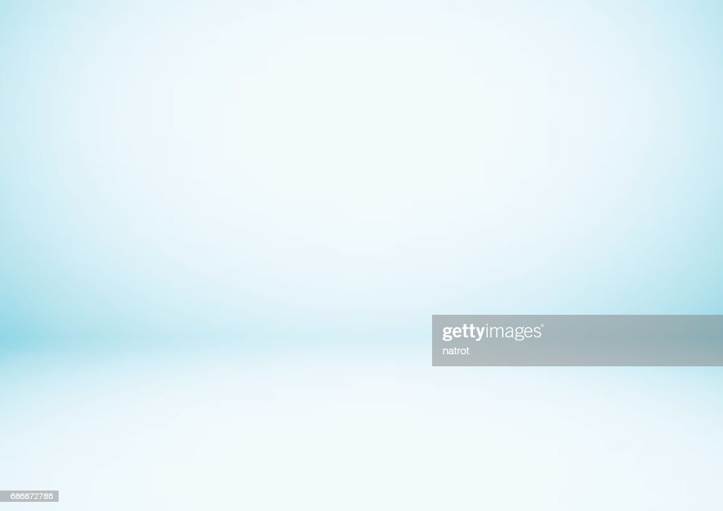 Empty blue studio room, used as background for display your products
