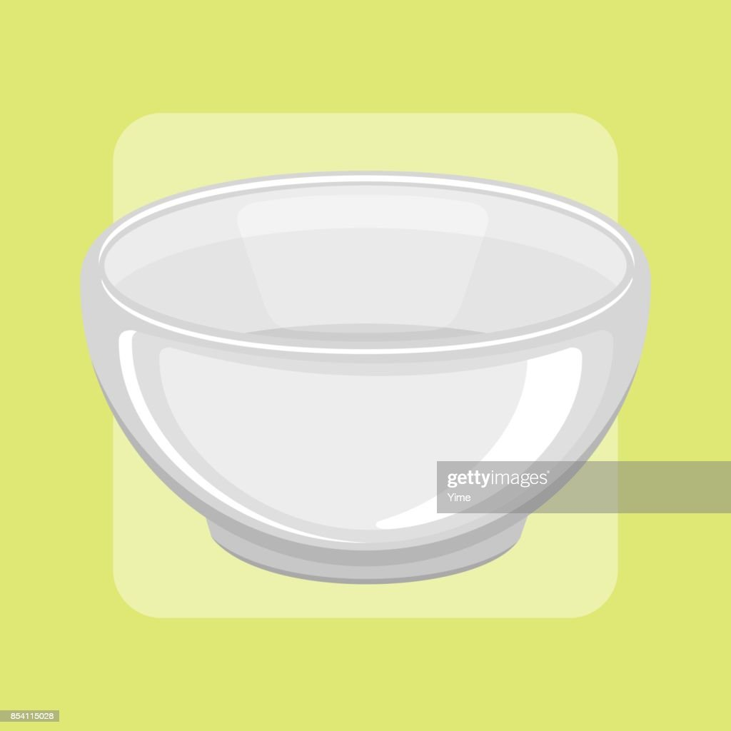 Empty bowl vector illustration.