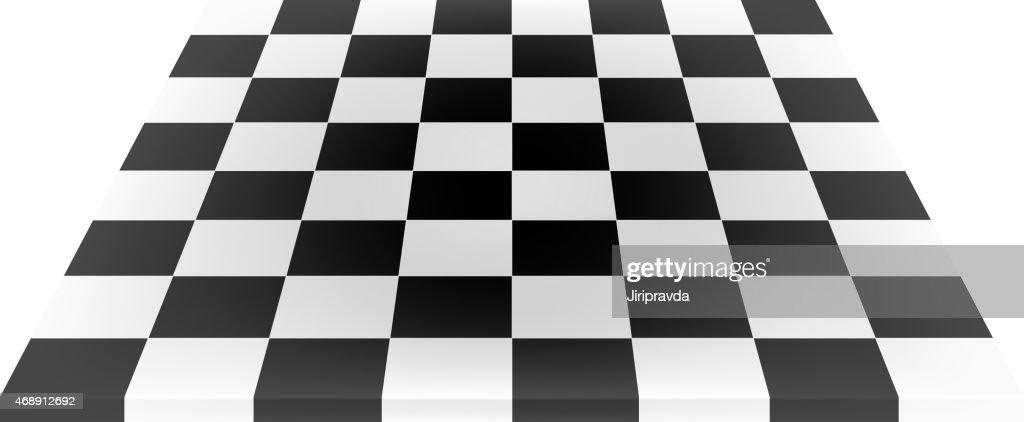 Empty chess board in black and white design