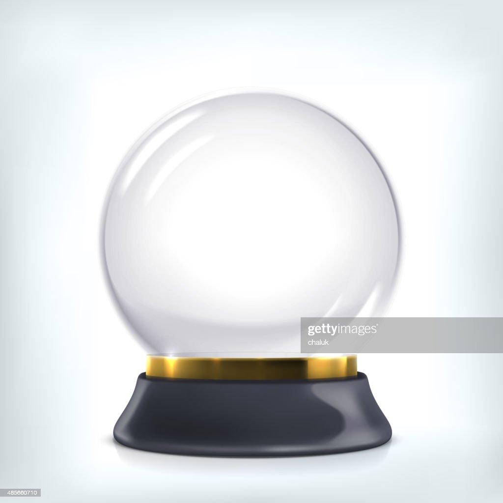 Empty christmas crystal ball.