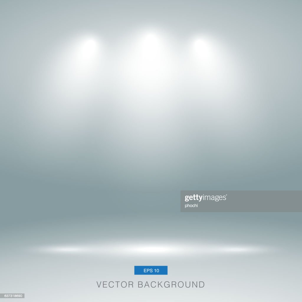 Empty gallery wall with lights effect for images and advertiseme
