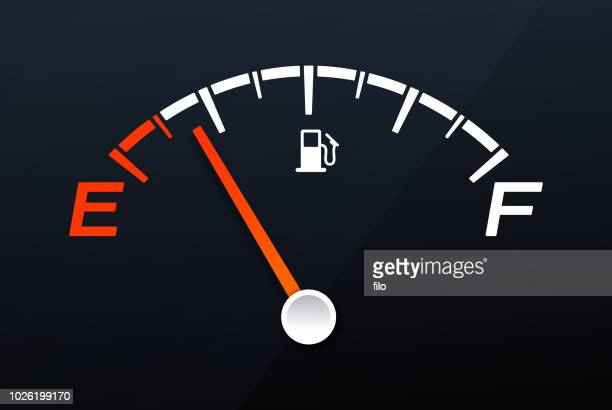 empty gas tank gauge - fuel station stock illustrations, clip art, cartoons, & icons