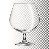 Empty glass. Transparent glass
