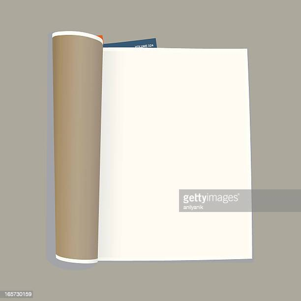 empty magazine template - magazine stock illustrations