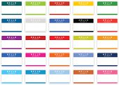 Empty nametag hello my name is sticker tag color label