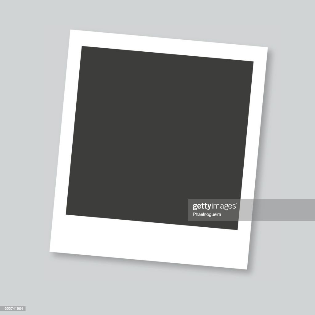 Empty photo frame in gray background