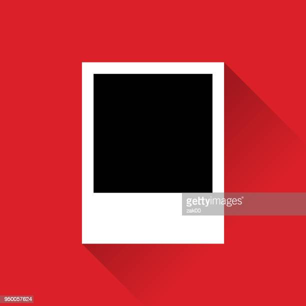 empty   photo frame with long shadow - polaroid stock illustrations, clip art, cartoons, & icons