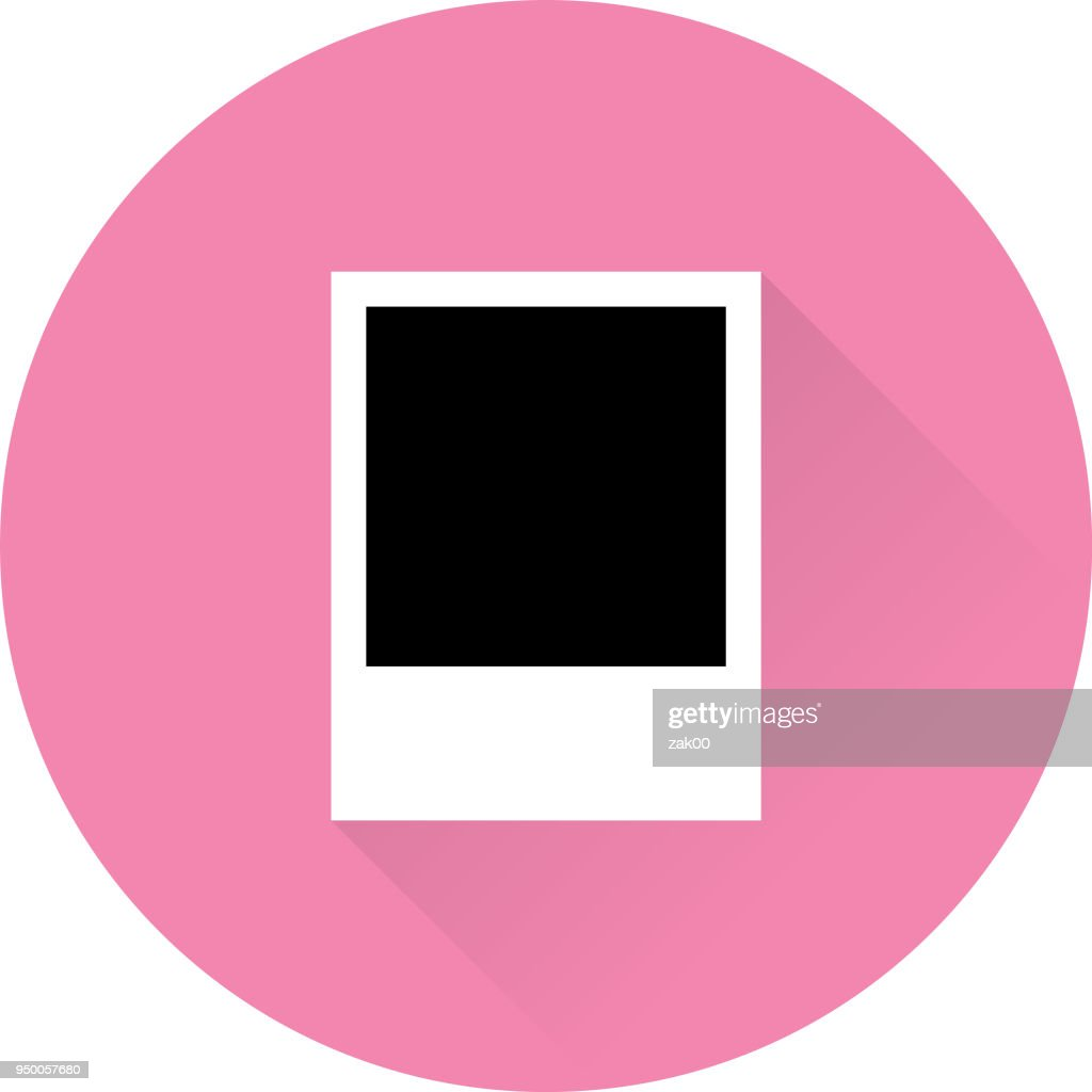 Empty Photo Frame With Long Shadow Vector Art | Getty Images