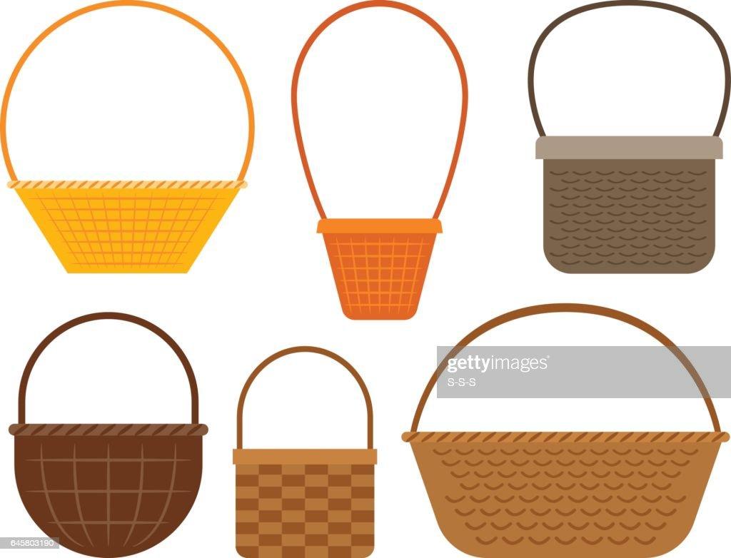 Empty picnic basket set