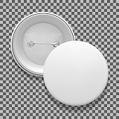 Empty pin badge template
