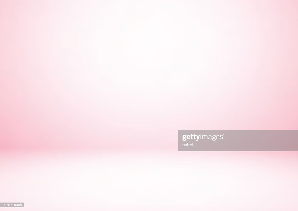 Empty pink studio room, used as background for display your products