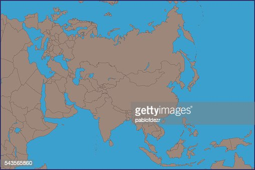 Empty Political Map Of Asia.Empty Political Map Of Asia Vector Art Getty Images