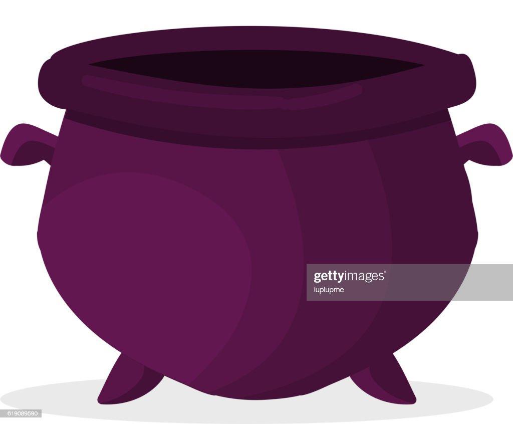 Empty pot vector illustration.
