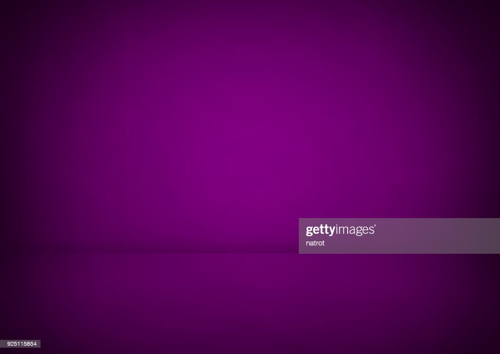 Empty purple studio room, used as background for display your products